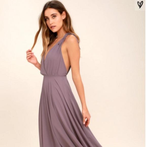 a97666f3d07b Lulu s Dresses   Skirts - Lulus Dusty Purple Backless Maxi Dress